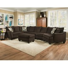 3810 - Flannel Espresso 3-Piece Sectional
