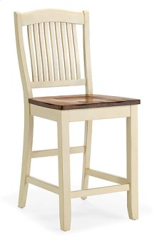 Slat Back Stool (buttermilk)
