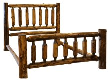 Traditional Bed - King - Vintage Cedar