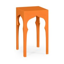 Square Lamp Table (Pumpkin Cream)