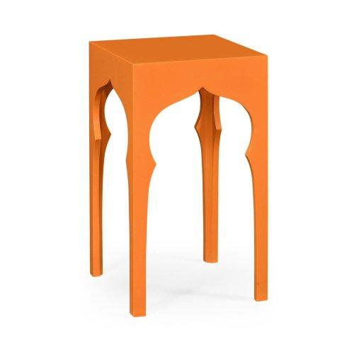 Square Lamp Table (Pumpkin Cream)