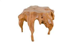 Teak Leaf Wood Side Table