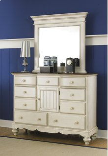 Pine Island Mule Dresser Mirror - Old White
