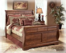 Queen Sleigh Bed (Headboard, Footboard, Rails)