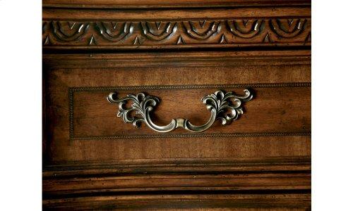 Old World Stone Top Door Nightstand