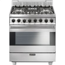 "Free-Standing Gas Range, 30"", Stainless Steel"