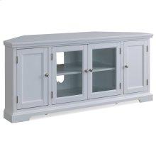 """White 57"""" Corner TV Console #85386"""
