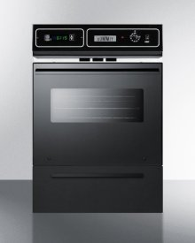 "Black Glass Gas Wall Oven With Electronic Ignition, Digital Clock/timer, and Oven Window for Cutouts 22 3/8"" Wide By 34 1/8"" High"
