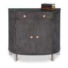 Shagreen Covered Demilune Cabinet