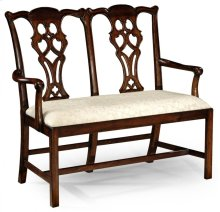 Chippendale Classic Style Mahogany Hall Seat
