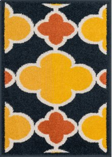 Navy / Lemon Rug