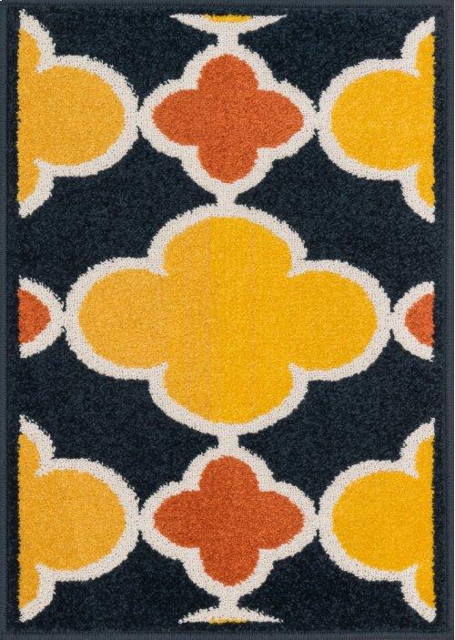 Navy / Lemon Rug
