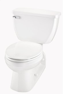 """White Ultra Flush® 1.6 Gpf 4 1/4"""" Vertical Rough-in Two-piece Back Outlet Elongated Toilet"""
