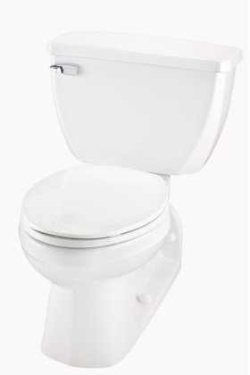 "White Ultra Flush® 1.6 Gpf 4 1/4"" Vertical Rough-in Two-piece Back Outlet Elongated Toilet"