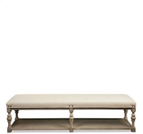Juniper 72-Inch Upholstered Dining Bench Natural finish