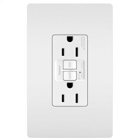 Tamper-Resistant 15A Outlet Branch Circuit AFCI Receptacle, White