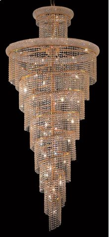 1800 Spiral Collection Large Hanging Fixture Gold Finish