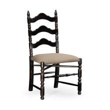 Black Oak Ladder Back Country Chair (Side)