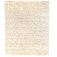 9'x12' Size Beige Diamond Stripe Rug