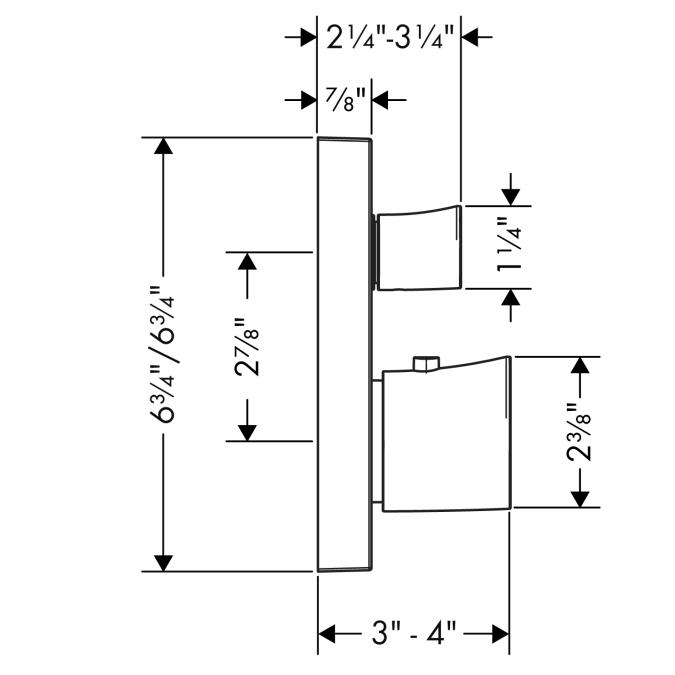 Additional Chrome Thermostatic Trim w/Volume Control