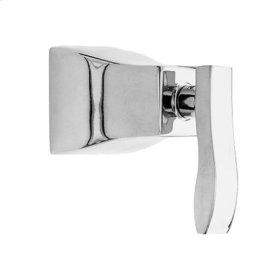Matte-White Diverter/Flow Control Handle