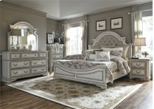 King Uph Bed, Dresser & Mirror, NS