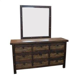"""Dresser : 64"""" x 19.5"""" x 35"""" Uptown Dresser/Mirror"""