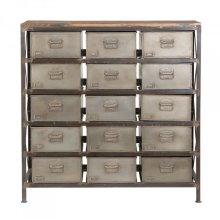 Metal & Mango Wood Cabinet