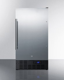 """ADA Compliant 18"""" Wide Frost-free Freezer Built-in or Freestanding Use, With Stainless Steel Exterior, Lock, and Digital Thermostat"""