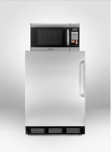 Stainless Steel Refrigerator-freezer-microwave Combination With Deluxe Ct67sstb
