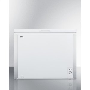 SummitCommercially Listed 7 CU.FT. Manual Defrost Chest Freezer In White With Stainless Steel Corner Protectors