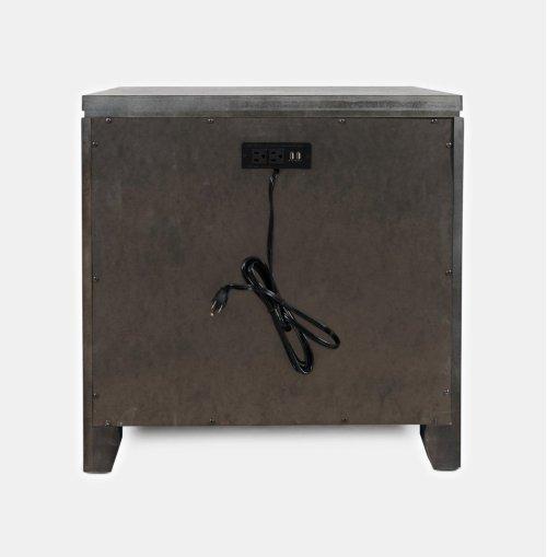 Altamonte Power Nightstand - Brushed Grey