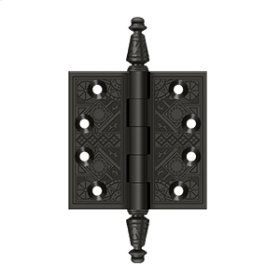 """3 1/2""""x 3 1/2"""" Square Hinges - Oil-rubbed Bronze"""