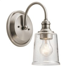 Waverly 1 Light Wall Sconce Classic Pewter
