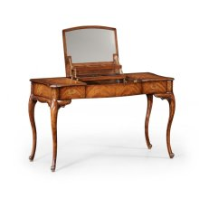 Dressing table with hinged mirror