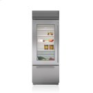 "30"" Classic Over-and-Under Refrigerator/Freezer with Glass Door Product Image"