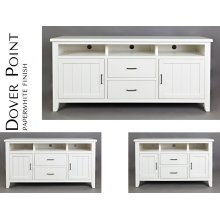"Dover Point 50"" Media Console - Paperwhite"
