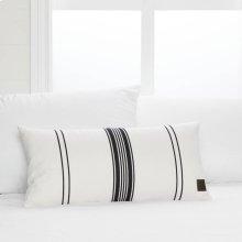 Striped Throw Pillow - Black and White