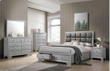 4pc Silver Queen Bedroom Set