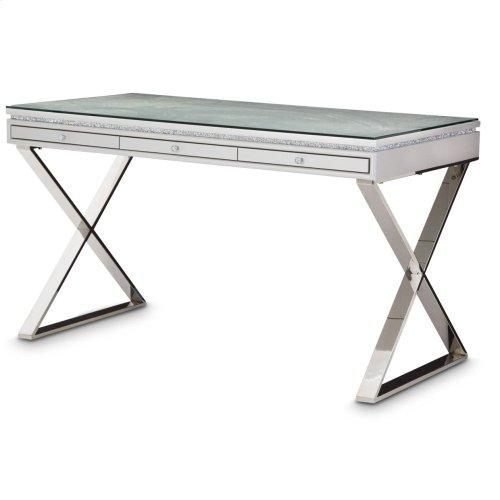Writing Desk W/glass Top