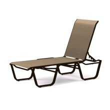 Aruba Sling Four-Position Lay-flat Stacking Armless Chaise