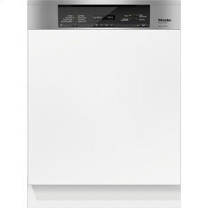 MieleG 6835 SCi AM Integrated, full-size dishwasher with visible control panel, 3D+ cutlery tray and custom panel ready