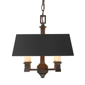 Smithsonian Bradley Convertible Semi-Flush in Cordoban Bronze with a Black Shade