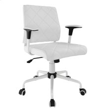 Lattice Vinyl Office Chair in White