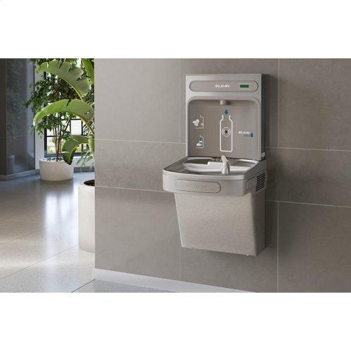 Elkay EZH2O Bottle Filling Station with Single ADA Cooler, Non-Filtered Non-Refrigerated Light Gray