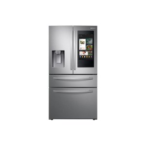 """Samsung28 cu. ft. 4-Door French Door Refrigerator with 21.5"""" Touch Screen Family Hub™ in Stainless Steel"""