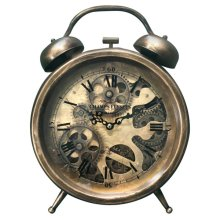 Brass Gears Table Top Clock