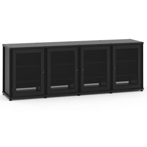 Salamander DesignsSynergy Solution 347, Quad-Width AV Cabinet, Black with Black Posts