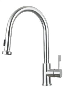 "Pull Down Solid Stainless Steel Kitchen Faucet ""Vega"""