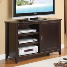 """Espresso"" 1-Door, 3-Shelves Media Console"